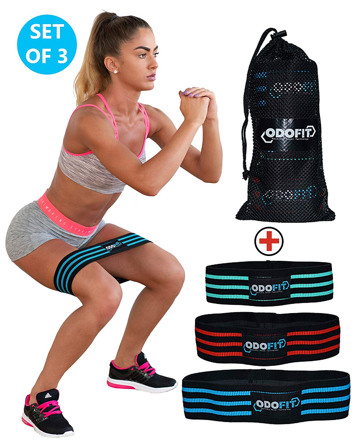 Squat Set of 3 Perfect for Stretching or Snap Won't Slip Warm Up ...