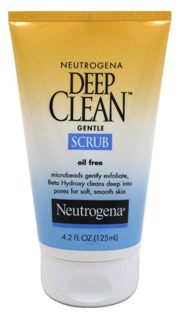 Neutrogena Deep Clean Scrub Gentle Oil-Free 4.2oz (3 Pack)