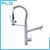 Double spout kitchen faucet,spring pull out spray kitchen sink mixer tap