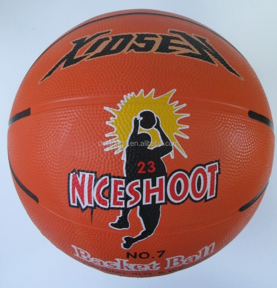 Xidsen Orange printed Basketball size 7,8 panels ,official size and weight,nice shoot