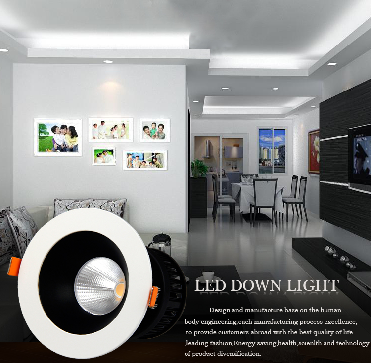 commercial illumination adjustable led downlights anti-dazzling white milky for wholesale-2