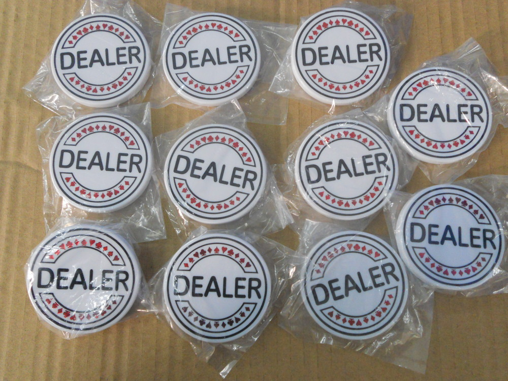 transparent acrylic all in,50MM dealer button,plastic jetons