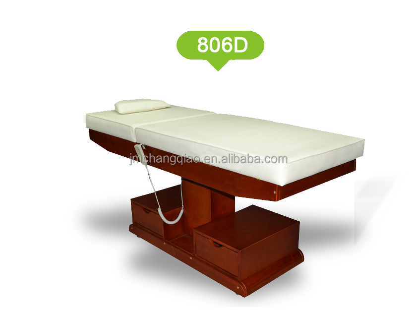 Good Quality Electric Solid Wood Beauty Salon Massage Table