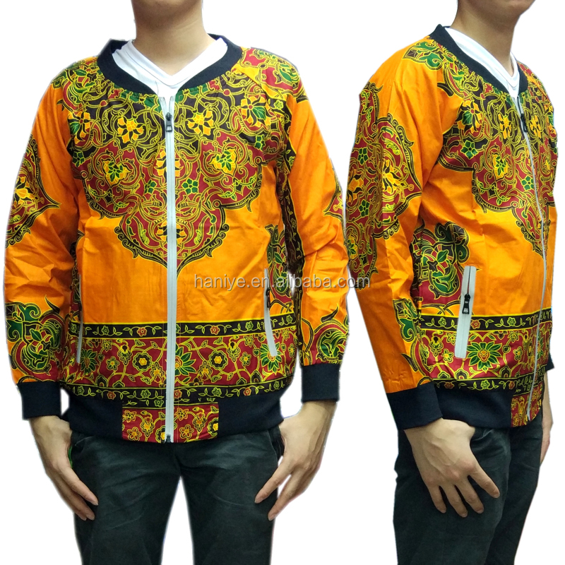 2017 african men jacket design dashiki wax fabric making jacket clothes for men