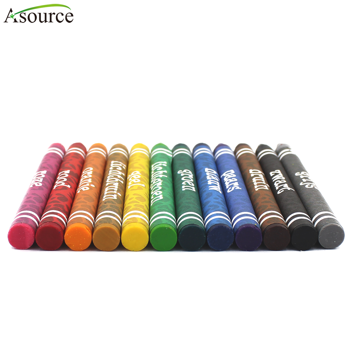 12 Pcs High Quality  Non-toxic Wax Crayon Set For Kids