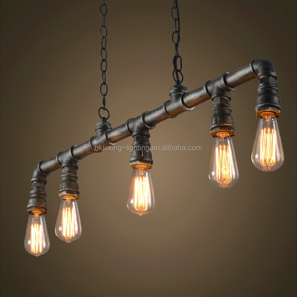 Tubo di acqua contrappeso industriale luce del pendente stile 1072 P soffitto lampadario edison ...