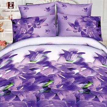 Hot Luxury Tulip Thailand Twin Sheet Sets Cotton Material Texture Bed Designs For