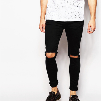 Gay Pants Denim Jeans Sale Denim Man Skinny Jeans Pant With Rip Knee