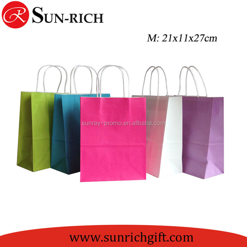Custom Logo printing White Kraft Paper Bag packaging bags Shopping Bags For Promotion Low Price from China
