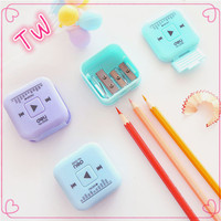 Promotional exquisite fashion environmental protection stationery set gift funny shaped manual pencil sharpener