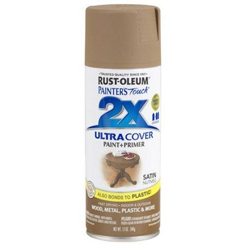 Rust-Oleum 249070 Painter's Touch Multi Purpose Spray Paint, 12-Ounce, Satin Nutmeg