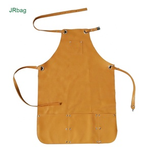 Chinese Factory ODM OEM New Model Water Proof Adjustable Brown Bib Brush Cutter Smock Engine Leather Barista Apron For Welding