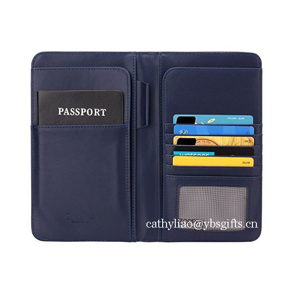 Rfid Blocking Secure Passport Holder Wallet