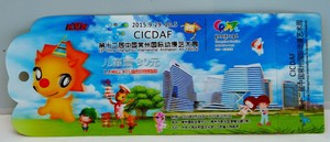 Factory Price 3D Custom Ticket Card