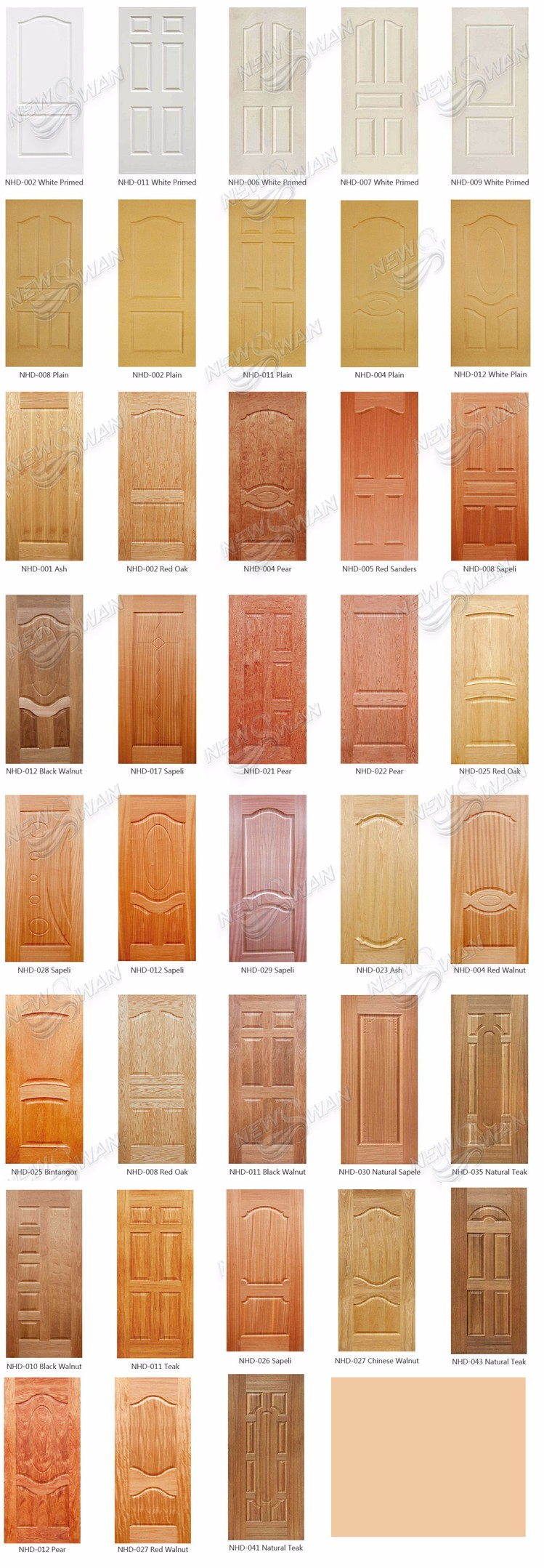 Decorative Interior Door Skin Panels 6 Panel Door Skins