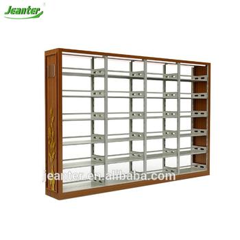 Durable School Storage Books Wooden 4 Units Library Bookshelf Dimensions