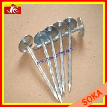 Galvanized Twist Shank Umbrella Head Roofing Nail Factory
