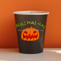 Halloween Logo Printed Disposable Paper Coffee Cups