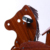 Stable wooden ride-on mechanical riding horse toy pony for kids