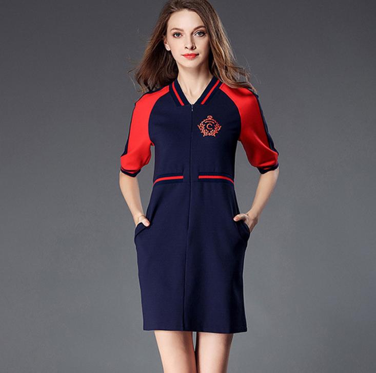 625ae6fc9 WE1763 diseño mujeres elegantes de manga corta Niña vestidos de graduación