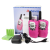 Updated Pink retevis RT-388 0.5W 22 Channel 462.5625-467.7250 UHF rechargable mini 2 way Radio