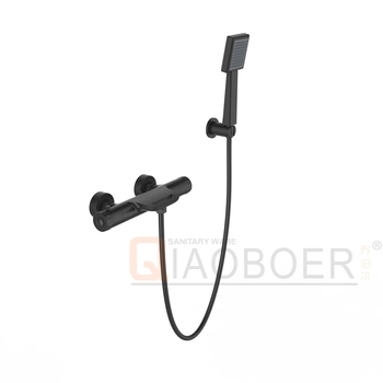 Wall Mounted Black Paint Thermostatic Shower Mixer