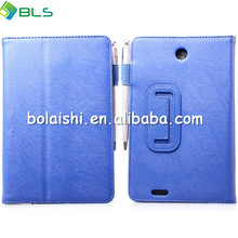 Support PU leather flip case for asus fonepad me371