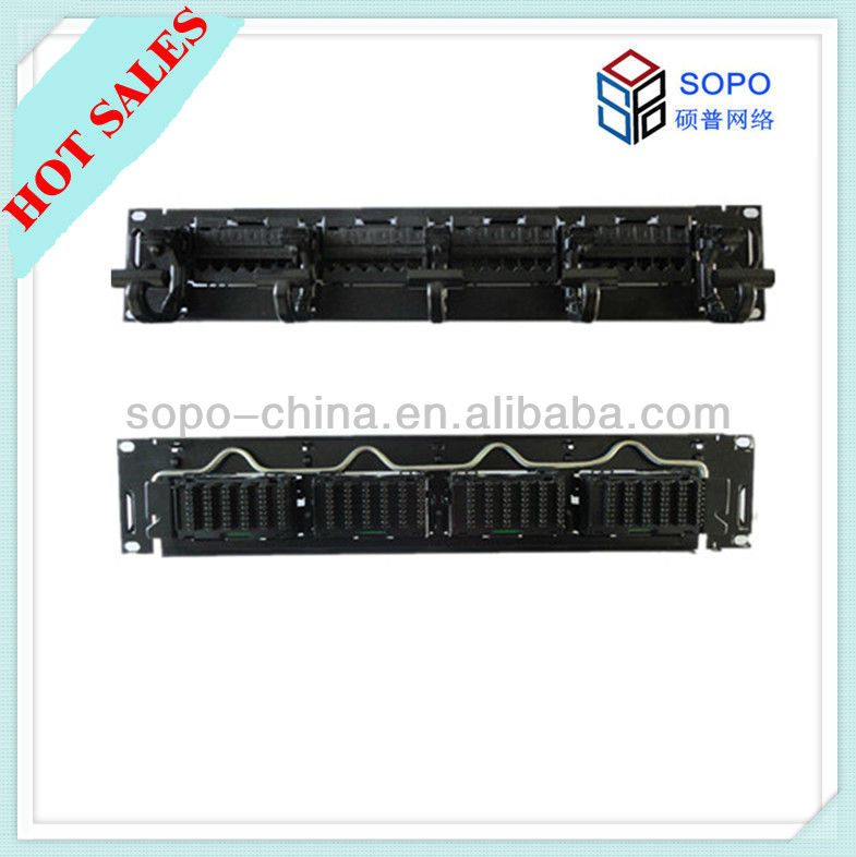 24-Port Cat6a Patch Panel with Cable Management