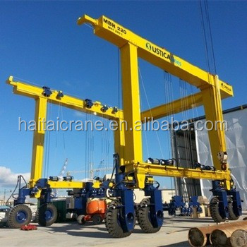 professional factory rubber tire yacht lift crane