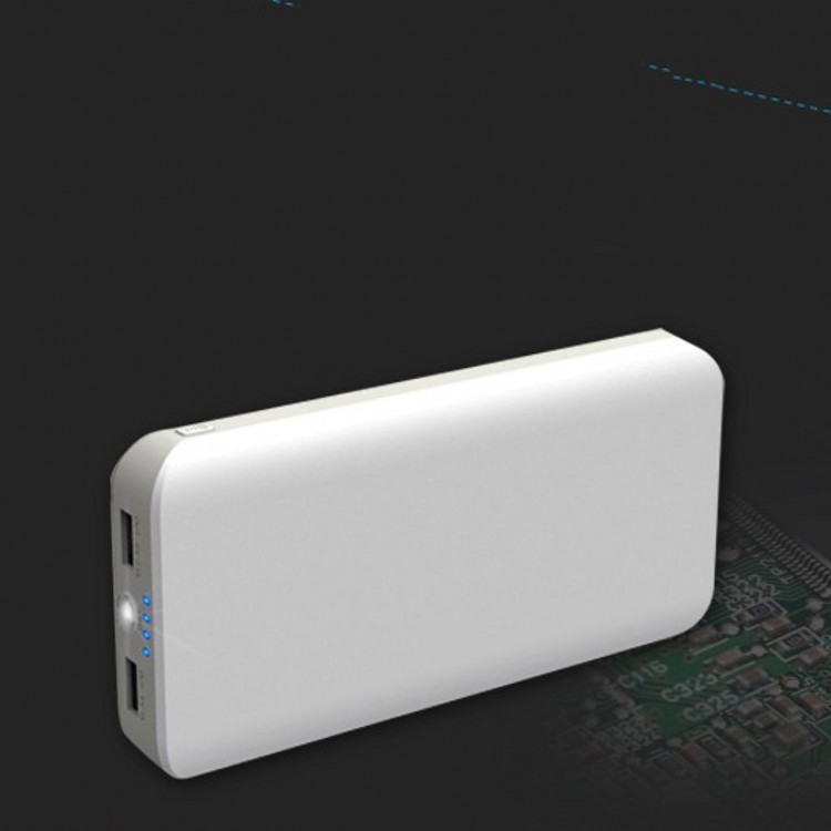 Custom Portable External Battery Charger High Capacity 20000mah RoHS Power Bank Charger Case For Mobile Phone