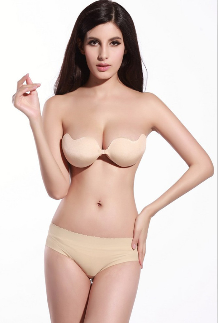 2015 newest sexy bra invisible a blade bra and brief set push up glossy adjustable underwear Retail / Wholesale kll170