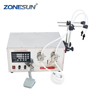 ZONESUN 2 head gear pump lubricant oil filling machine with CE SGS certificated factory price supply