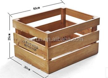 Hot koop hout box fruit krat houten groente kratten houten pallet