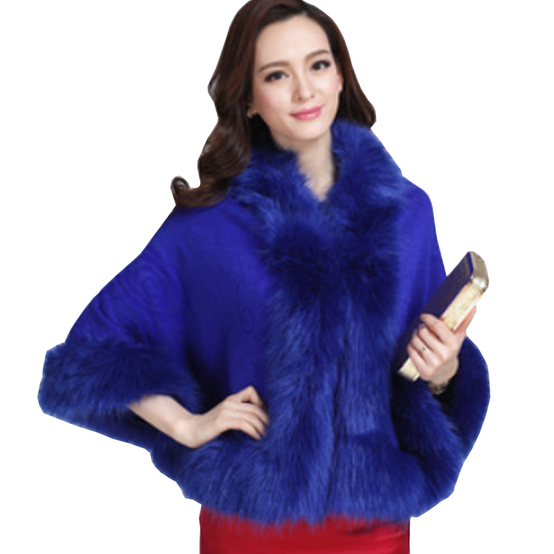 Mother Clothing 2015 White Winter Fur Coat Women Imitation Mink Fur Shawl Faux Fur Cape Knitted Cardigan Overcoat Female Poncho