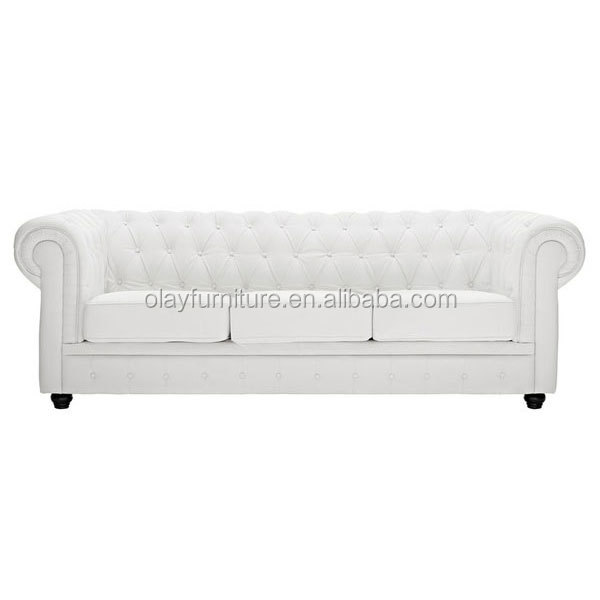 2017 hot sale chesterfield sofa for sale, tufted sofa white event wedding furniture,white leather event sofa