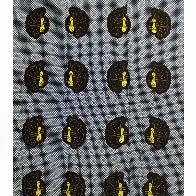 100% cotton dashiki africant print wax high quality real wax fabric