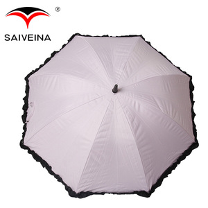 High quality lace parasol umbrella with Fan cool your summer