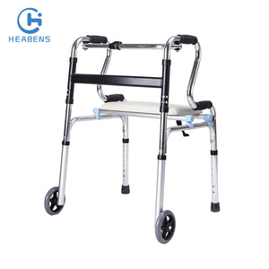 Thickened aluminum frame motorized walker for old people