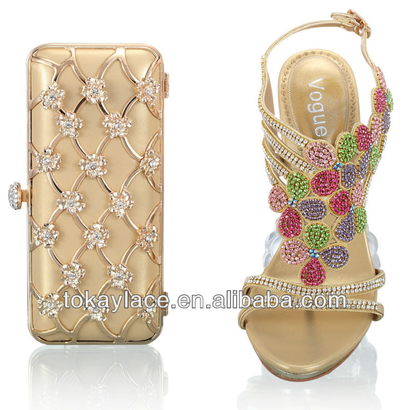 2013 and wedding lady wholesale dress italian bag in gold shoe for set rqrSTwCn