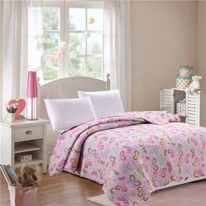 brand name embroidery cheap patchwork butterfly kantha quilt cover set girl
