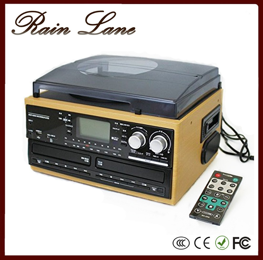 Rain Lane Antique Home Multiple Retro Radio Home Stereo Systems With Turntable With USB SD Direct Encoding