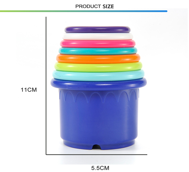 Bathing pool baby stacking bathroom watering educational cheap bath toy cup