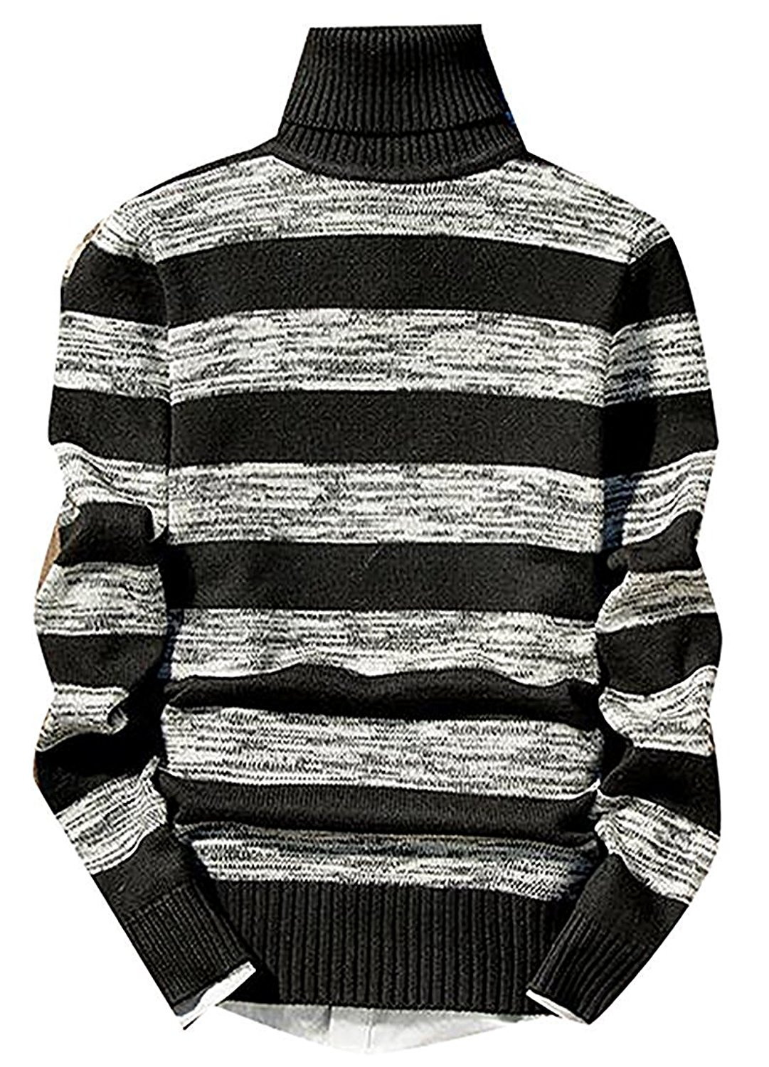 98c68ac7b4f Get Quotations · B dressy Fashion Mens Casual Stripe Knit High Neck Soft  Warm Pullover Sweaters