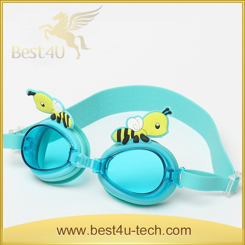 Best Selling Soft Silicone Cartoon Cute Kids Swimming Goggles Anti Fog