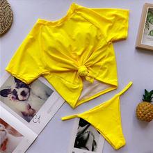 Женский купальник-бикини, с завязками спереди, в стиле ретро, 2020(Китай)