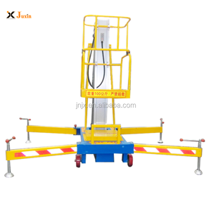 6M-14M Double mast Aluminum Lift Aerial working man lift/electric lift ladder/personal lift