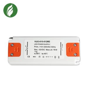 Indoor lighting emc passed transformer 12v 1.25a no fliker 15w ultra thin led driver