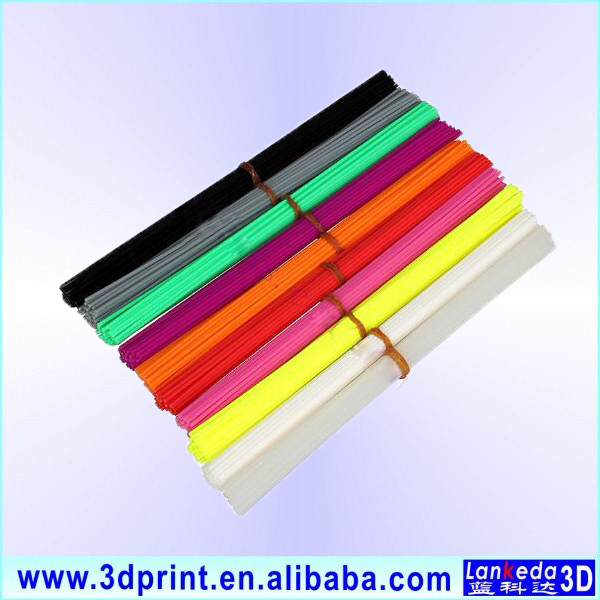 Hot sale 3d pen filament 1.75mm 3mm abs pla straight pen filament