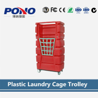 China Factory Selective plastic laundry cage trolley, not only beautiful, but also practical,trade assurance