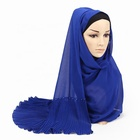 Fashion trend popular chiffon hijab scarf hijab with stones beads